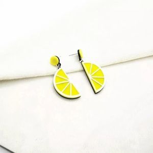 Jewelry - Lemon Acrylic Pierced Dangle Earrings